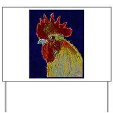 Freestyle Rooster Head Yard Sign