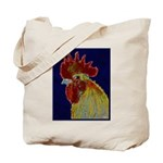 Freestyle Rooster Head Tote Bag