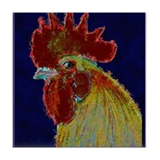 Freestyle Rooster Head Tile Coaster