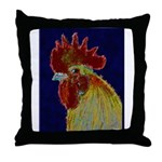 Freestyle Rooster Head Throw Pillow
