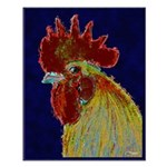 Freestyle Rooster Head Small Poster