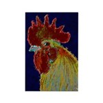Freestyle Rooster Head Rectangle Magnet (100 pack)