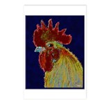 Freestyle Rooster Head Postcards (Package of 8)
