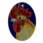 Freestyle Rooster Head Ornament (Oval)
