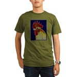 Freestyle Rooster Head Organic Men's T-Shirt (dark