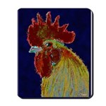 Freestyle Rooster Head Mousepad
