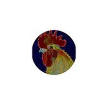 Freestyle Rooster Head Mini Button