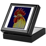 Freestyle Rooster Head Keepsake Box