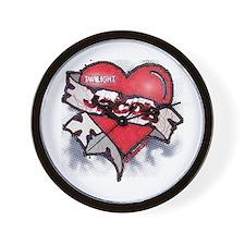 Jacob Black Tattoo Heart Wall Clock