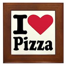 I love pizza Framed Tile