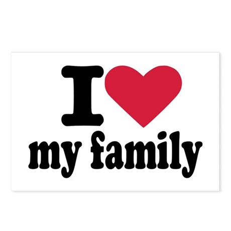 I love my family Postcards (Package of 8)
