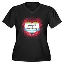Cute Greysanatomytv Women's Plus Size V-Neck Dark T-Shirt