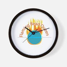 Flaming Bead Queen Wall Clock