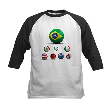 Brazil vs World Kids Baseball Jersey