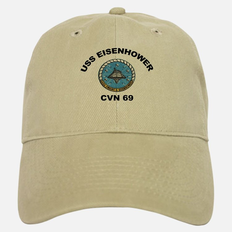 USS Eisenhower CVN 69 Baseball Baseball Cap