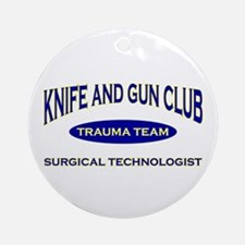 Knife & gun club (also light Ornament (Round)