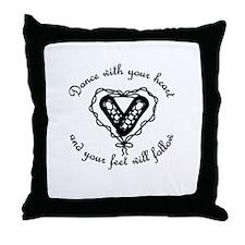 Cute Irish dancer Throw Pillow