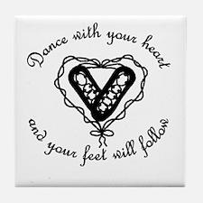 Cute Irish step dance Tile Coaster
