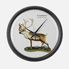 Caribou or Reindeer Large Wall Clock