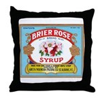 Vintage Syrup Label Throw Pillow