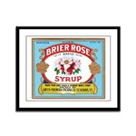 Vintage Syrup Label Framed Panel Print
