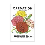 Vintage Carnation Seed Label Mini Poster Print