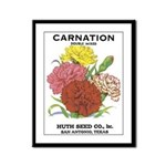 Vintage Carnation Seed Label Framed Panel Print
