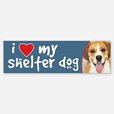 I Love My Shelter Dog Bumper Bumper Bumper Sticker