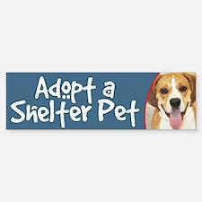 Adopt a Shelter Pet Bumper Bumper Bumper Sticker