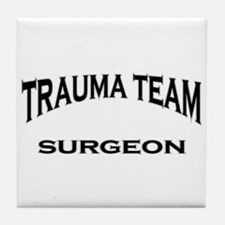 Trauma Team MD black Tile Coaster