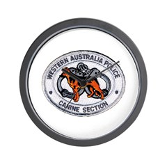 Western Australia Police K9 Wall Clock
