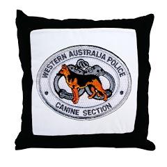 Western Australia Police K9 Throw Pillow