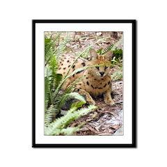 Serval Framed Panel Print