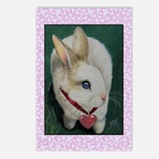 Pink Valentine Bunny Postcards (Package of 8)