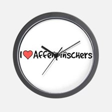 I heart Affenpinschers Wall Clock