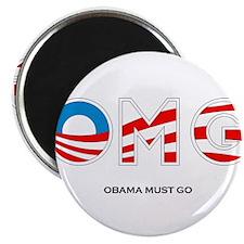 """Obama Must Go 2.25"""" Magnet (100 pack)"""