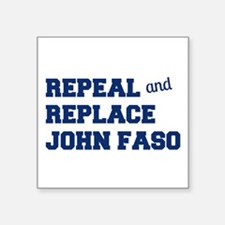 "John Faso Square Sticker 3"" x 3"""