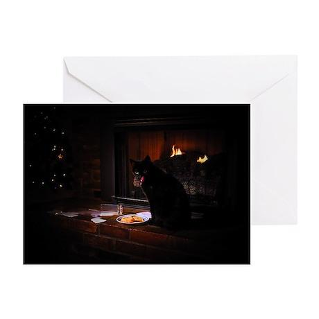 Bad Black Cat Christmas Greeting Cards (Pk of 10)