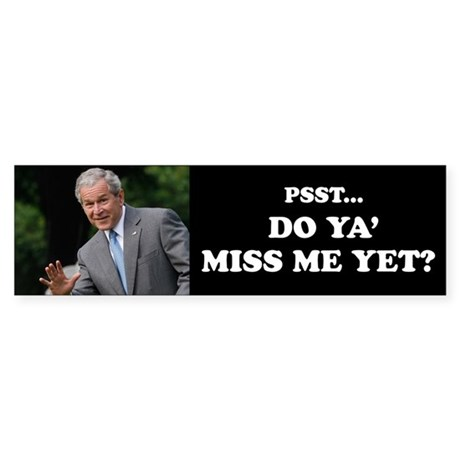 Bush Pssst...Sticker (Bumper)