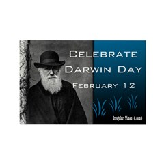 Darwin Day Rectangle Magnet