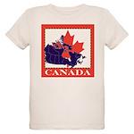 Canada Map with Maple Leaf Ba Organic Kids T-Shirt