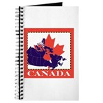 Canada Map with Maple Leaf Ba Journal