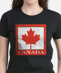 Canada with Red Maple Leaf Tee