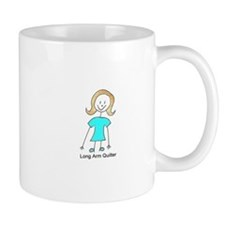 stick quilter w text Mugs