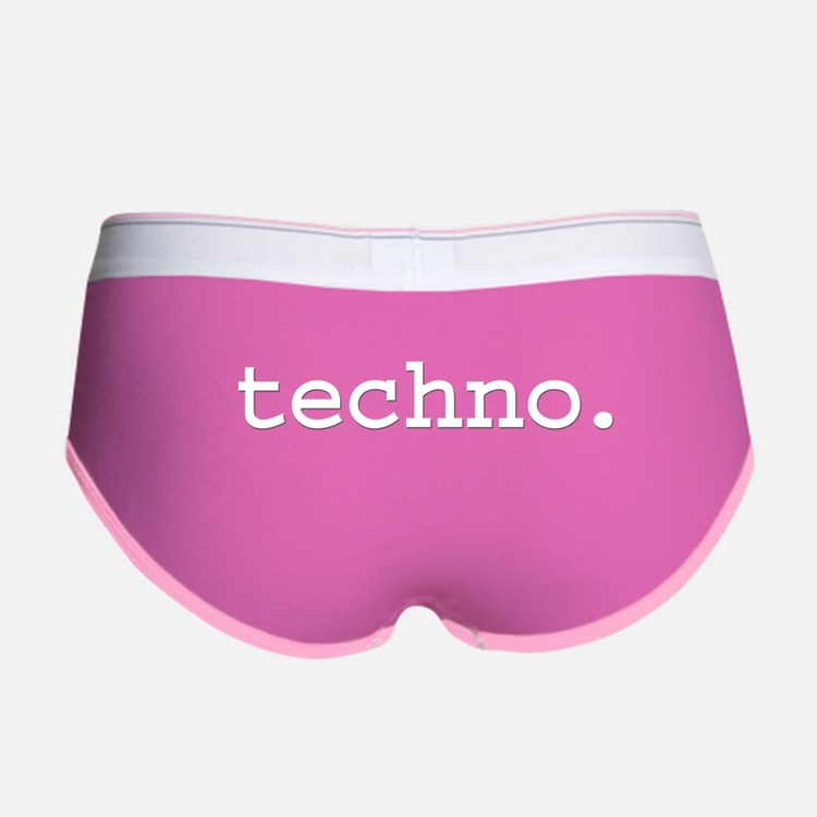 techno. Women's Boy Brief