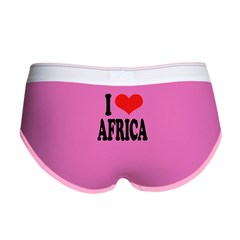I Love Africa Women's Boy Brief