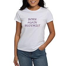 Born Again Buddhist purple Tee