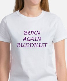 Born Again Buddhist purple Tee