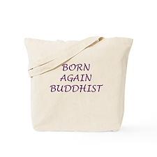 Born Again Buddhist purple Tote Bag