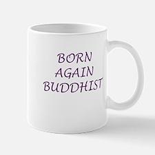 Born Again Buddhist purple Mug
